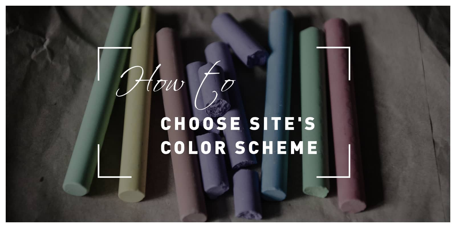 How to Choose photography site's color scheme