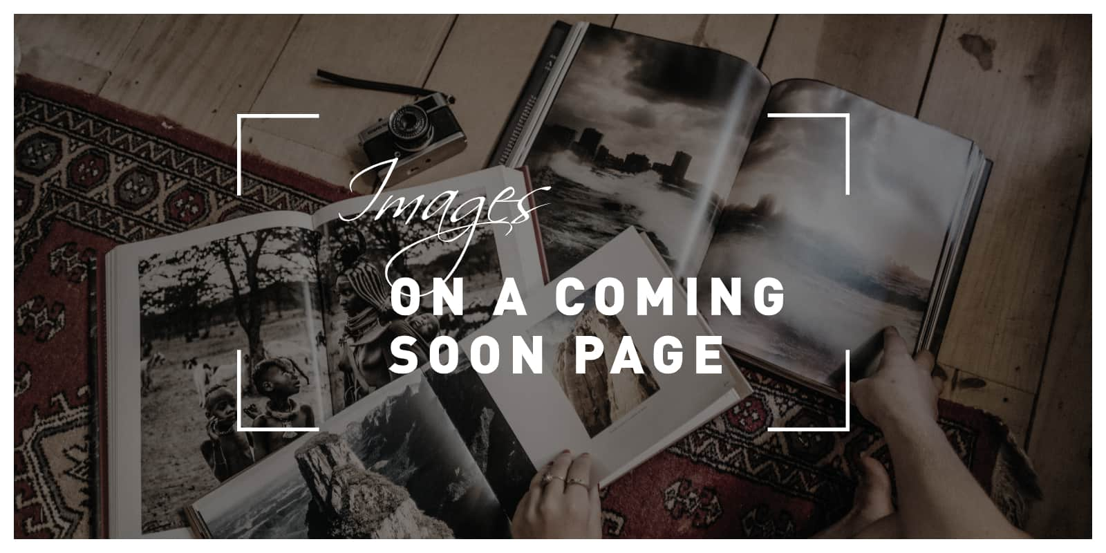 Images on a coming soon page