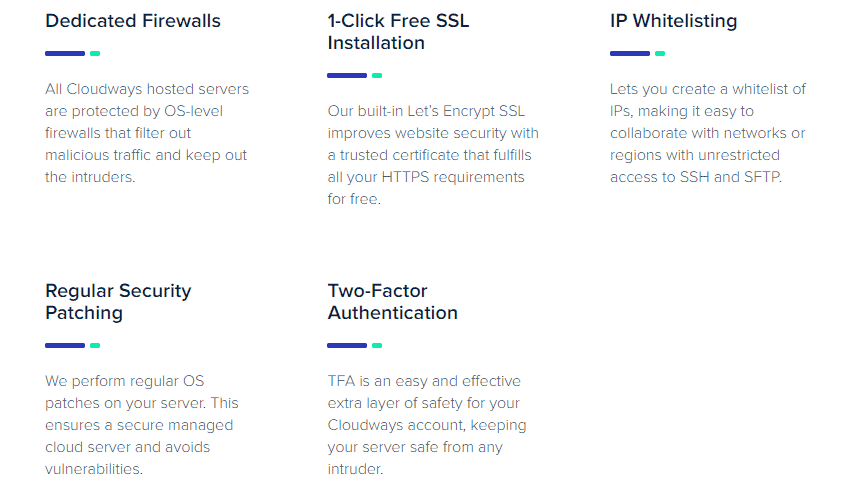 Cloudways security features