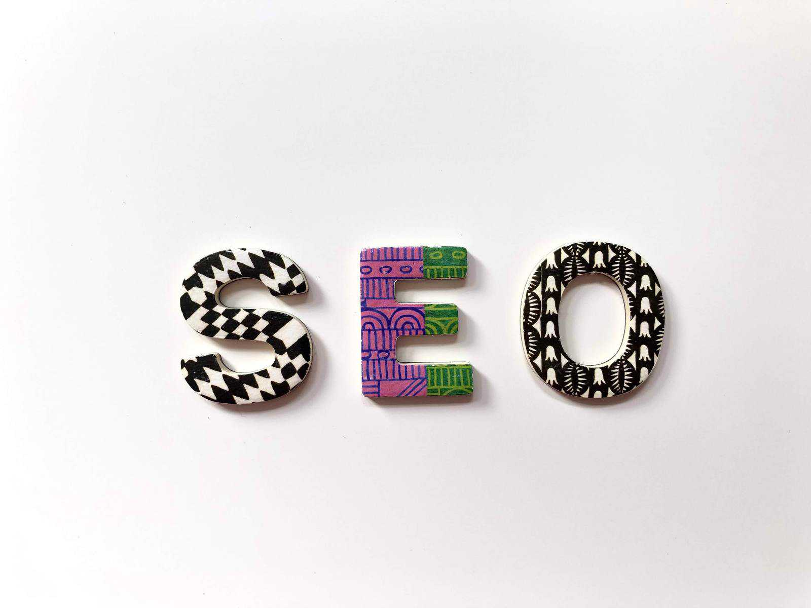 SEO in block letters