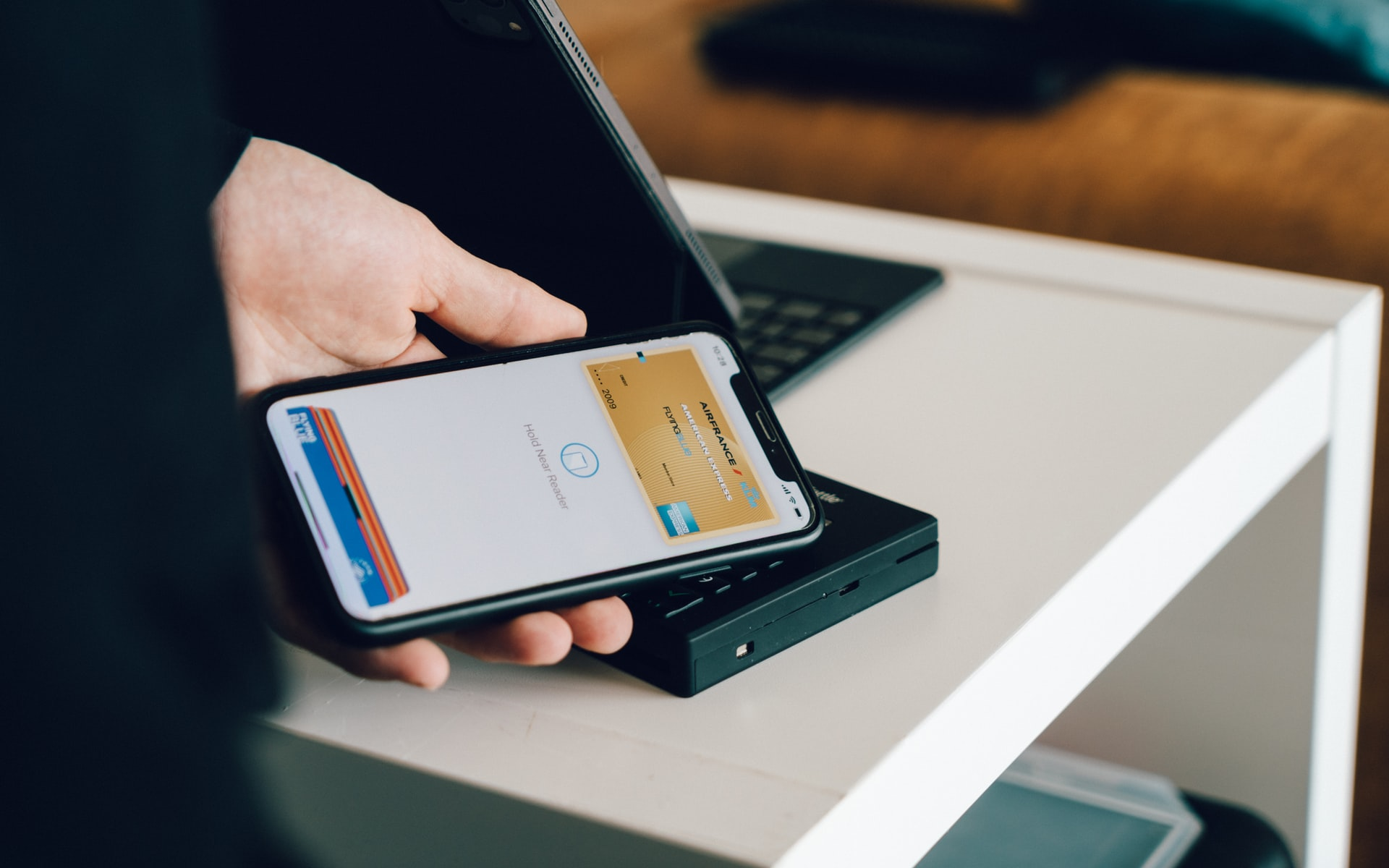 Person using mobile pay