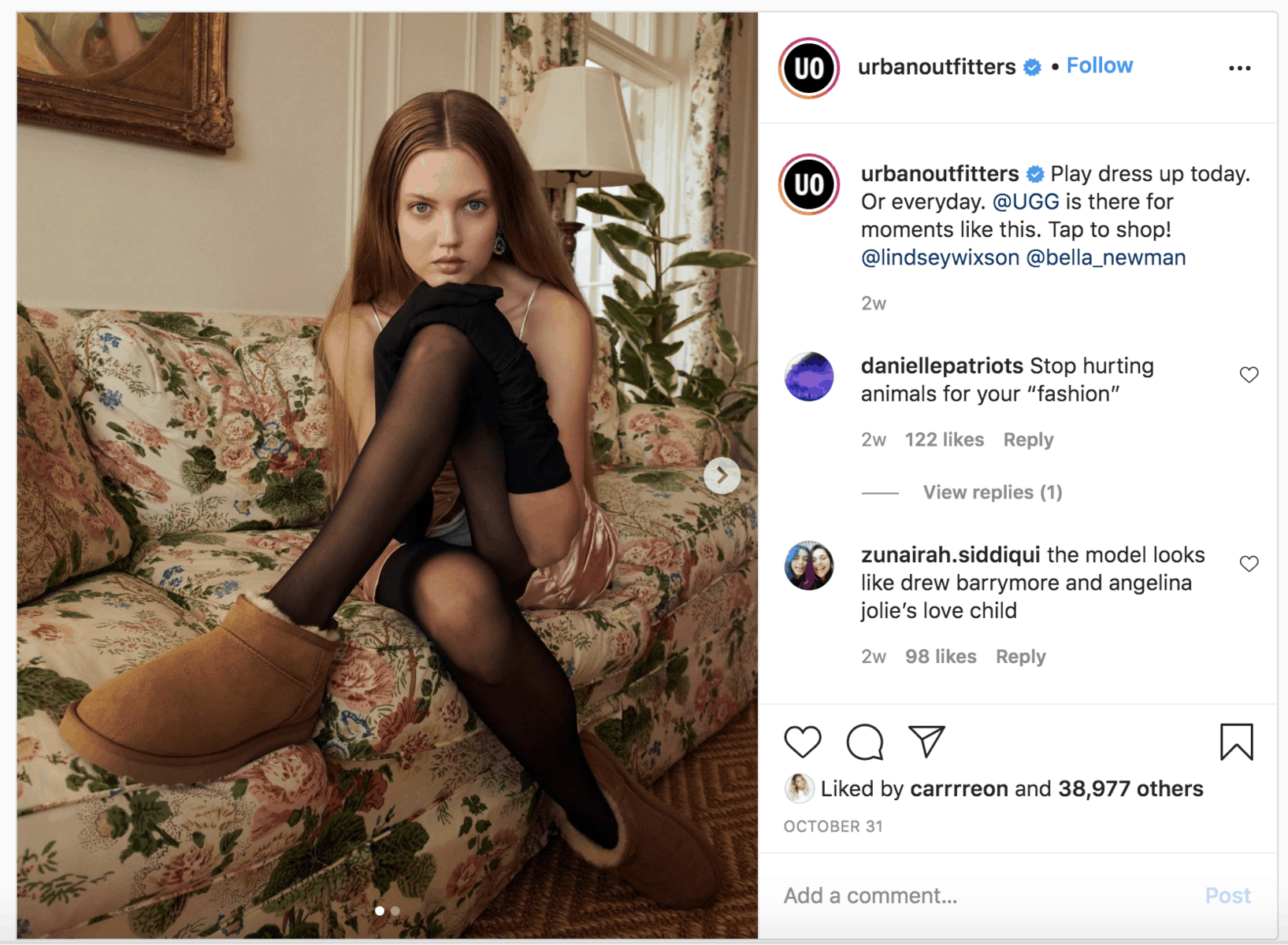 Urban Outfitters Instagram