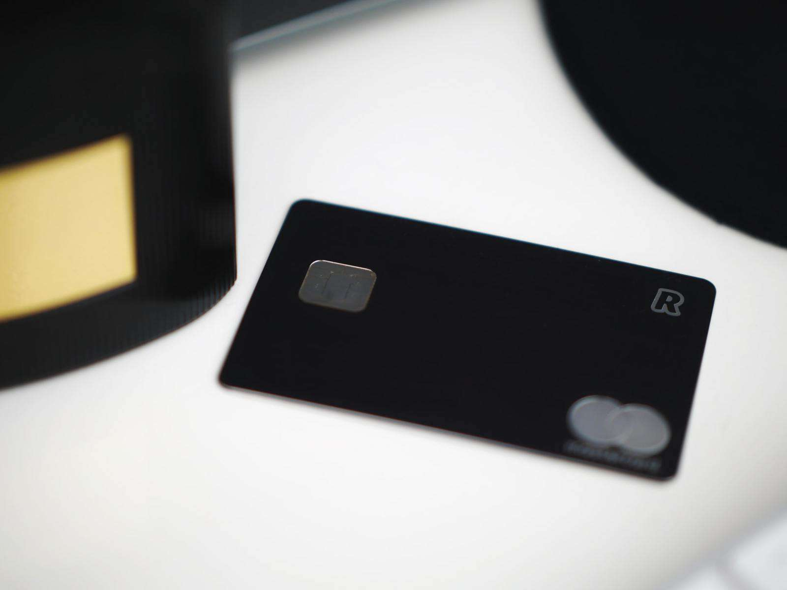 Credit card on table