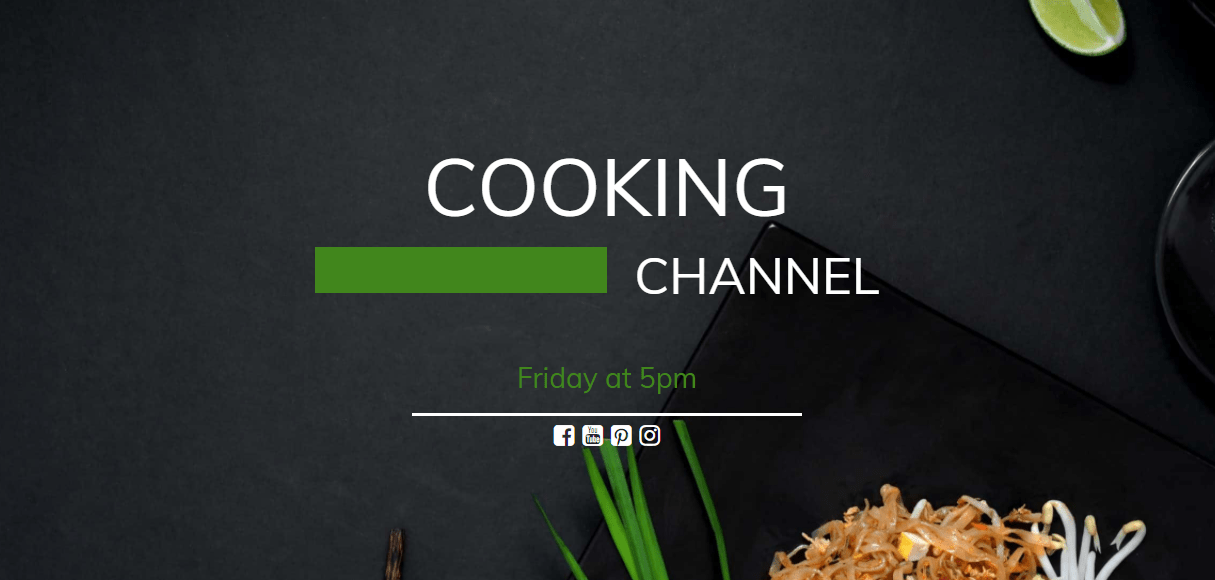 UnderConstructionPage plugin cooking channel template